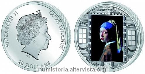 Cook, moneta in argento per Jan Vermeer