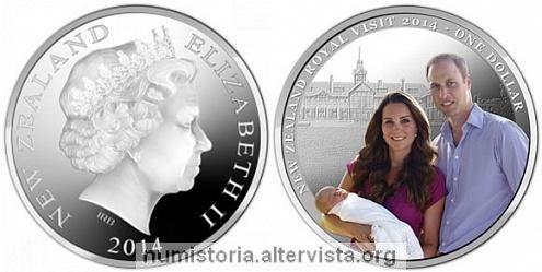 Nuova Zelanda, moneta per William e Kate