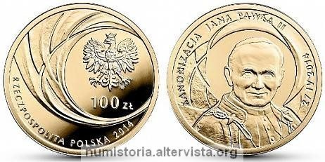 Polonia, quattro monete per Wojtyla santo