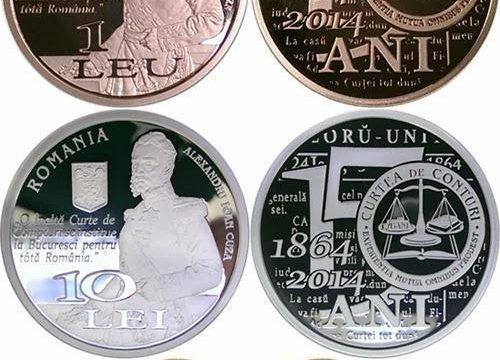 Romania, tre monete per la Corte dei Conti