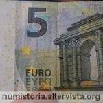 Scoperta banconota da 5 euro con la firma sbagliata