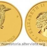Australia, 2 dollari in oro per il kookaburra