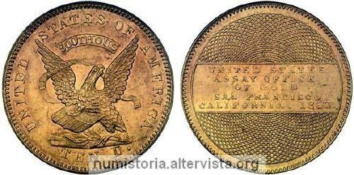 Le monete della corsa all'oro in California