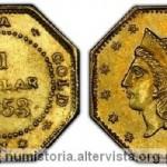 1 dollaro anonimo del 1853