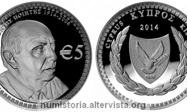 Cipro, 5 euro in argento per Costas Montis