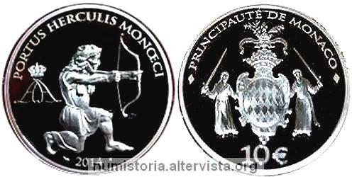 Monaco, 10 euro 2014 per Ercole