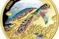 Niue, un'oncia d'oro per la tartaruga verde