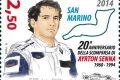San Marino, francobollo per Ayrton Senna
