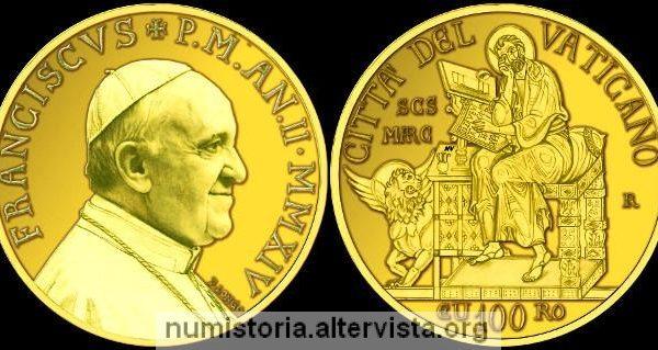 Vaticano, 100 euro in oro per San Marco