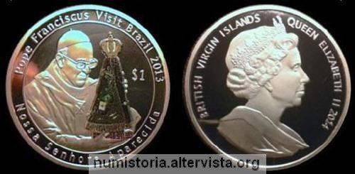 Una falsa moneta per papa Francesco