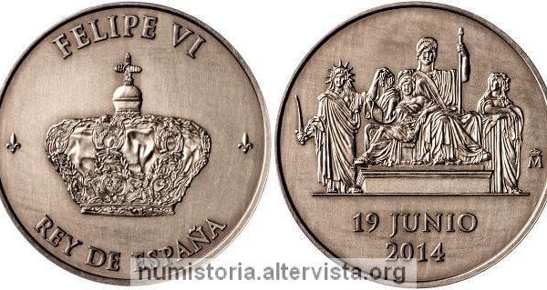 Spagna, medaglia per il nuovo re Felipe VI