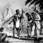 Un bianco acquista degli schiavi da un razziatore nero