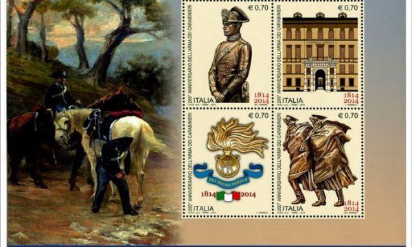 Francobolli per i 200 anni dei Carabinieri