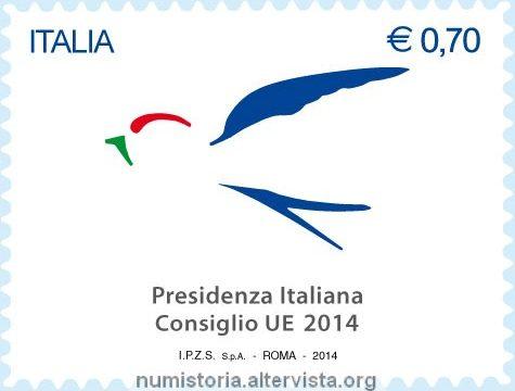 Francobollo per la presidenza europea 2014