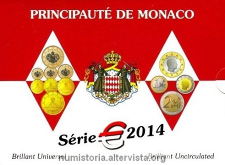 Monaco, serie divisionale FDC 2014