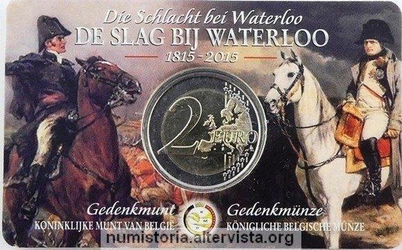 Belgio, 2 euro commemorativo 2015 per la battaglia di Waterloo