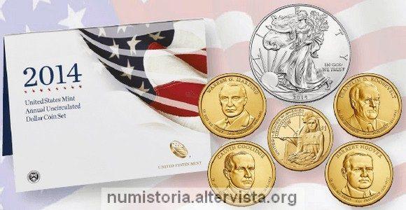 Usa, emesso il dollar coin set 2014