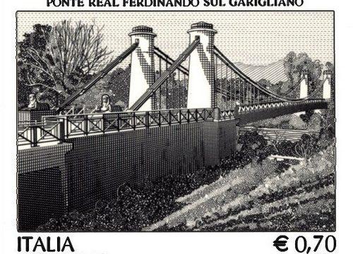 Francobollo per il ponte sul Garigliano