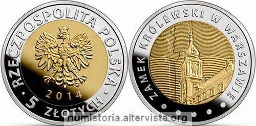 Polonia, moneta per il castello di Varsavia