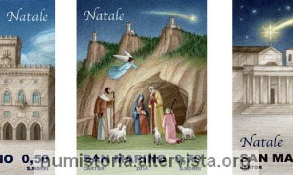 San Marino, tre francobolli per il Natale 2014