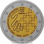 Portogallo, 2 euro commemorativo 2015 per la Croce Rossa