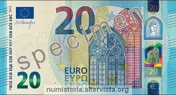Scoperti i primi falsi dei nuovi 20 euro