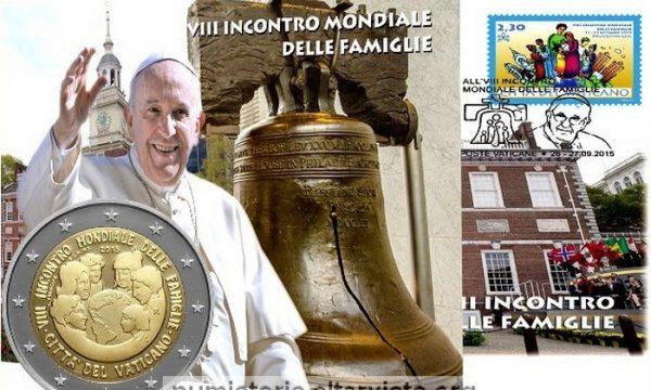 Vaticano, busta filatelico-numismatica 2015