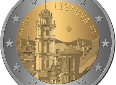 Lituania, 2 euro commemorativo 2017 per la città di Vilnius