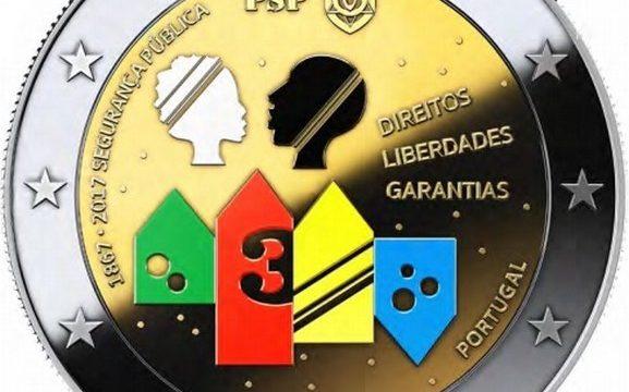 Portogallo, 2 euro commemorativo 2017 per la polizia