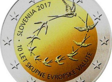 Slovenia, 2 euro commemorativo 2017 per l'euro