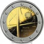 Portogallo, 2 euro commemorativo 2016 per il ponte 25 aprile