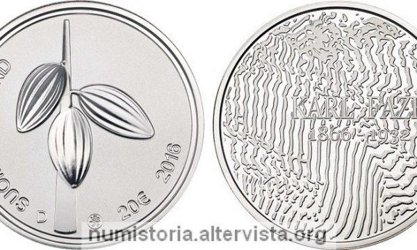 Finlandia, due monete per Karl Otto Fazer