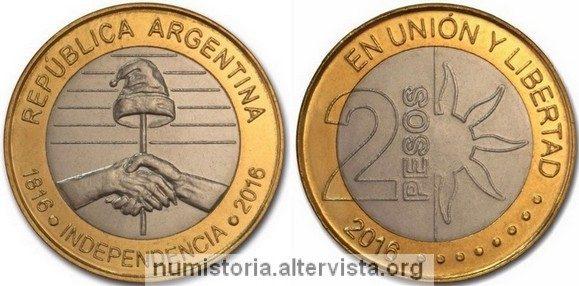 L'Argentina festeggia i suoi 200 anni con una moneta