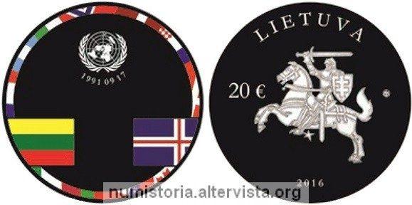 Lituania, una moneta per i 25 anni di indipendenza