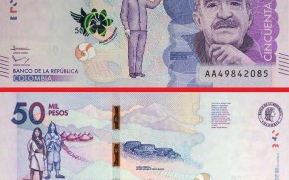 Gabriel Garcia Marquez su una banconota colombiana