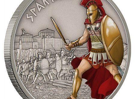Niue, un'oncia d'argento per i guerrieri di Sparta