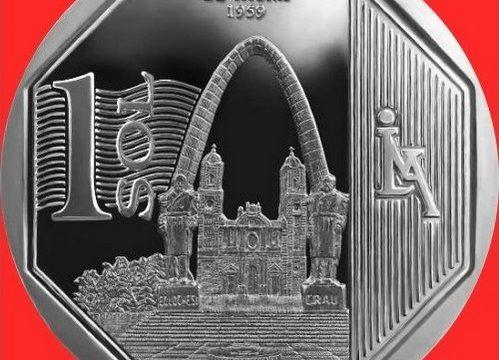 Perù, una moneta per l'arco parabolico di Tacna