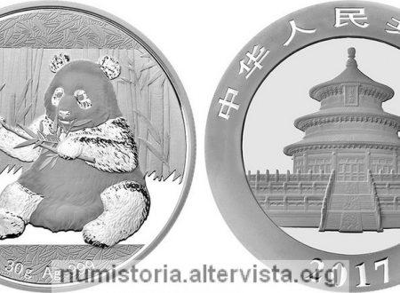 Cina, i panda in oro e in argento del 2017