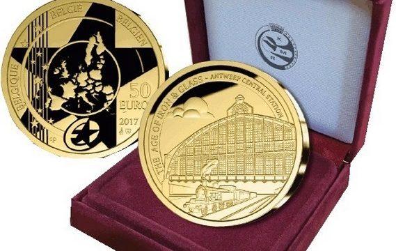Belgio, due monete per la stazione di Anversa