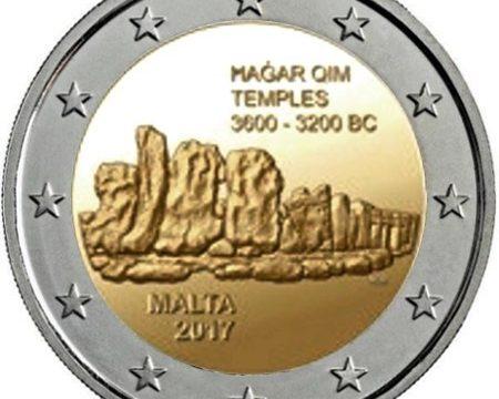 Malta, 2 euro commemorativo 2017 per Hagar Qim