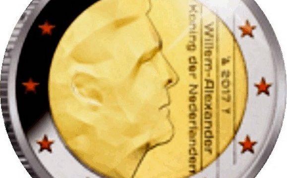 Paesi Bassi, 2 euro commemorativo 2017 per il re