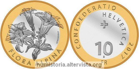 Svizzera, 10 franchi 2017 per la genziana