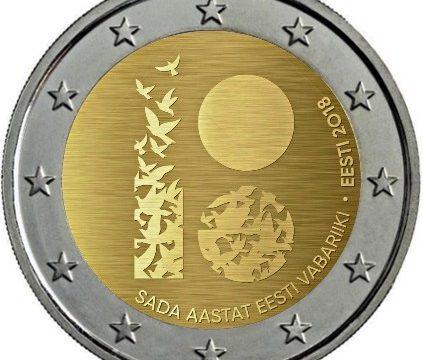 Estonia, 2 euro commemorativo 2018 per l'indipendenza