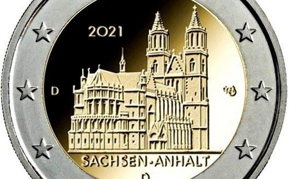 Germania, 2 euro commemorativo 2021 per il duomo di Magdeburgo