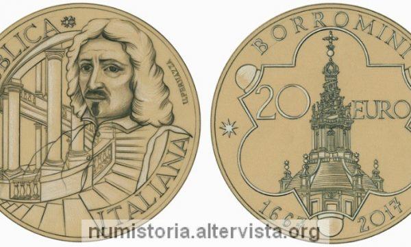 Italia, 20 euro 2017 per Francesco Borromini