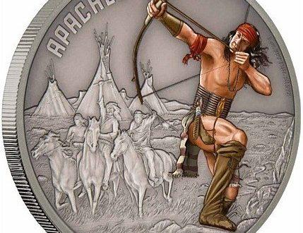 Niue, un'oncia d'argento per i guerrieri Apache
