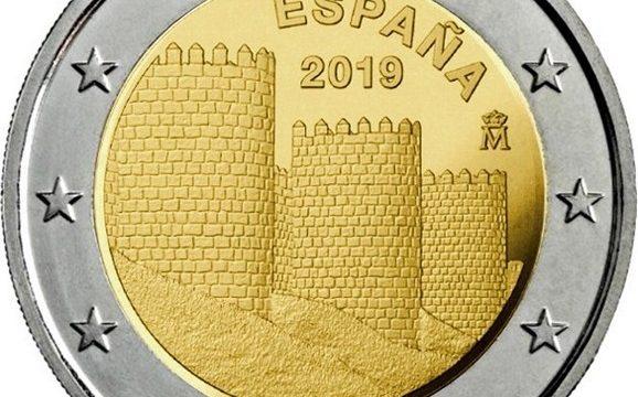 Spagna, 2 euro commemorativo 2019 per Avila
