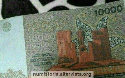 Uzbekistan, arriva la banconota da 10.000 som
