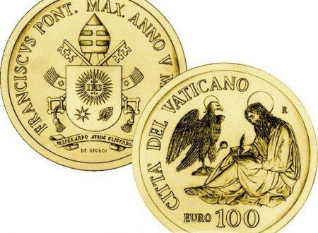 Vaticano, 100 euro in oro per San Giovanni evangelista
