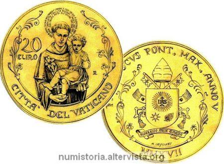 Vaticano, due monete per sant'Antonio da Padova